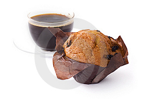 Coffee And Cupcake Royalty Free Stock Image - Image: 16961666