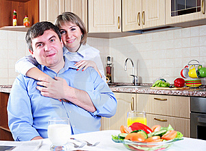 Couple Has Breakfast Together Stock Images - Image: 16962924