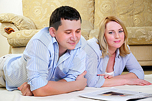 Young Couple Spends Time Together Stock Image - Image: 16963421