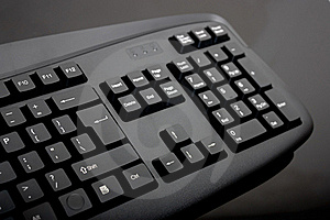 Close-up Of Black Keyboard Royalty Free Stock Image - Image: 16963886