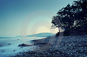 Sea Landscape In The Summer Evening Stock Image - Image: 16969061