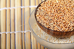 Wheat And Rice Bowls Stock Photography - Image: 16972982