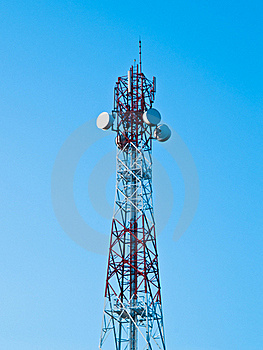 Mobile Phone Communication Repeater Antenna Tower Stock Photo - Image: 16973490