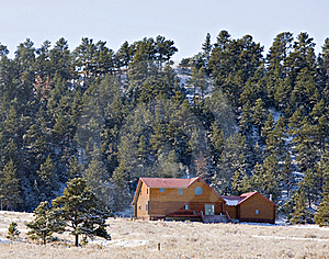 Cabin In The Hills Stock Photography - Image: 16975592