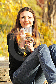 Woman Drinking Coffee Stock Images - Image: 16976044
