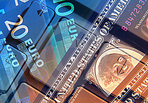 Dollar And Euros Royalty Free Stock Image - Image: 16977186