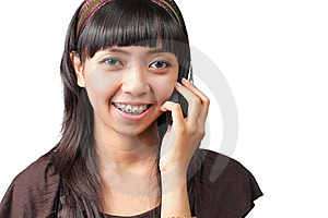 Woman Using Mobile Phone Stock Photography - Image: 16978802