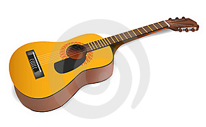 Realistic Acoustic Guitar Royalty Free Stock Photo - Image: 16979495