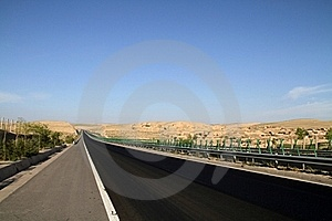 Desert Highway Stock Image - Image: 16985591