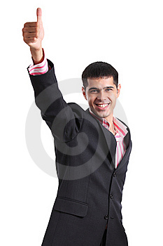 Мan In A Business Suit Showing Thumb Up Stock Images - Image: 16987444