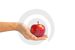 Giving An Apple Royalty Free Stock Photo - Image: 16987745