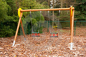 Empty Swings Royalty Free Stock Photo - Image: 16990945