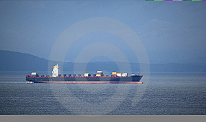 Red And Black Container Ship Royalty Free Stock Photography - Image: 16998287