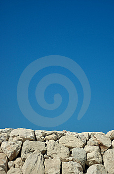 Harbour Wall Background Royalty Free Stock Images