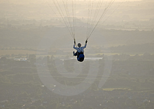 Paraglider high in the sky Stock Image
