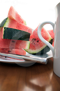 Wassermelonenscheiben Lizenzfreie Stockfotos