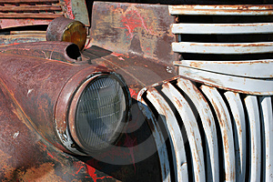 Truck headlight Royalty Free Stock Images