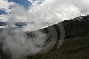 Clouds in the Andes Royalty Free Stock Image
