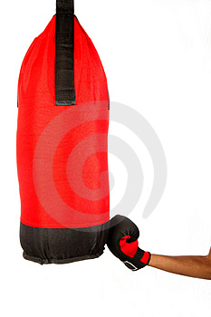 Upper Cut To Bag Stock Image