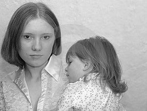 Jugendmutter/Schwestern Stockfotos