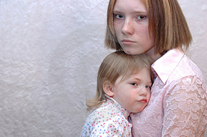 Jugendmutter/Schwestern Stockbilder