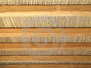 Cane Roof Pattern Stock Images