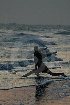 Dançarinos do por do sol Imagem de Stock