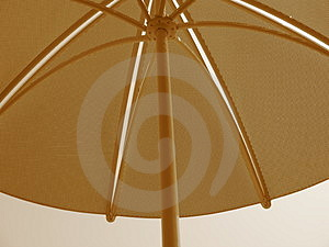 Sepia Table Umbrella Royalty Free Stock Images