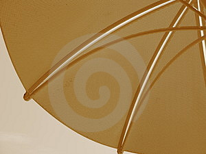 Sepia Table Umbrella Stock Photo