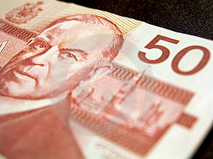 Fifty Dollar Banknote (canadian) Free Stock Photos