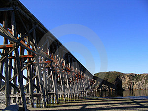 Train Tressel Royalty Free Stock Photos
