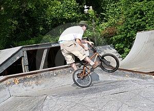 Biker Wheel Standing Stock Photos
