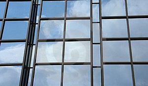 Reflection of clouds Stock Image