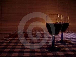 Glasses-of-wine Stock Photography