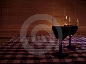 Bicchieri di vino Fotografia Stock