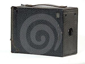 Antique Camera - Side Royalty Free Stock Photos