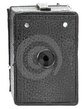 Antique Camera - Front Royalty Free Stock Images