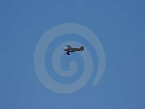 Prop Jet In The Air Stock Photography