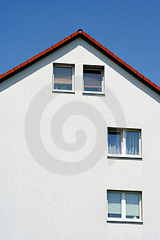 Empty facade Stock Photo