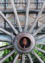 Old Wooden Cartwheel Royalty Free Stock Image