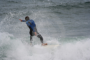 Surfer In The Wave Royalty Free Stock Image - Image: 1705336