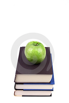 Books And Apple Stock Photos - Image: 1705563