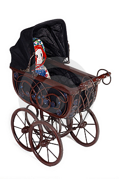 Old stroller v3. Stock Photos