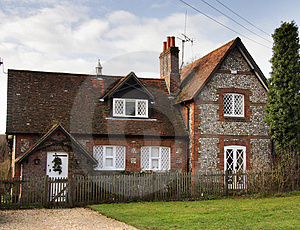 Brick And Flint House Royalty Free Stock Photo - Image: 1709605