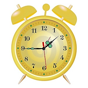 Golden Alarm Clock Royalty Free Stock Image - Image: 17000966