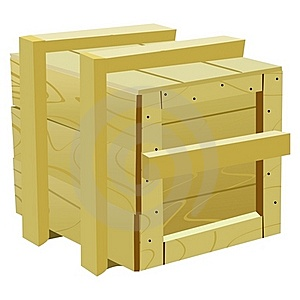 Wood Container Royalty Free Stock Photo - Image: 17001025