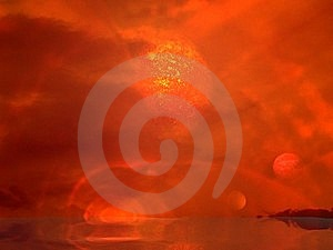 Planets, Clouds, Ocean Royalty Free Stock Image - Image: 17001206
