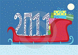 Christmas Sled With Presents Royalty Free Stock Photos - Image: 17003708