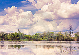 Clouds Reflection On Lake. Royalty Free Stock Image - Image: 17008406
