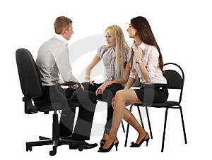 The Business Team On The Chairs Royalty Free Stock Photos - Image: 17010058